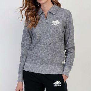 Roots Original Zip Polo Quarter Zip Sweatshirt